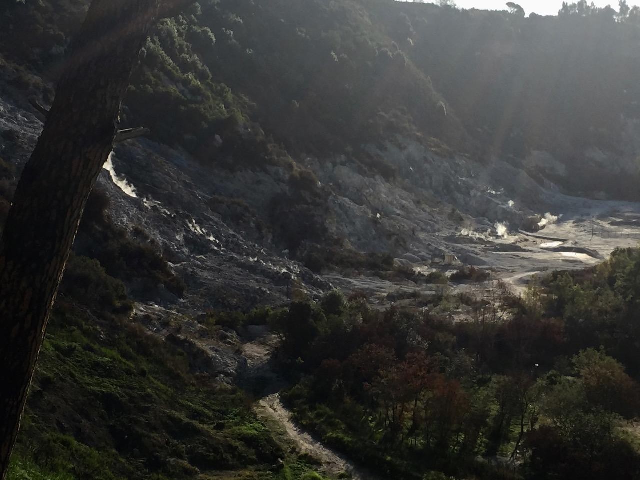 Campi Flegrei rising steam