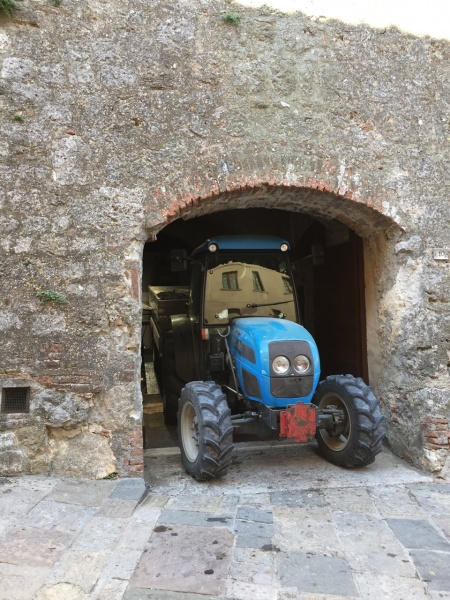 tractor at Contucci