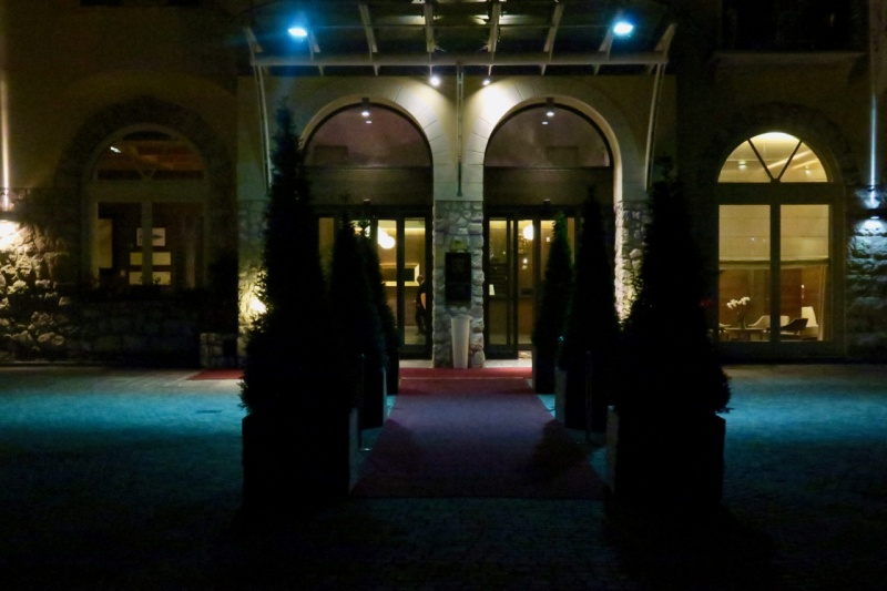 Grand Hotel Savoia at night