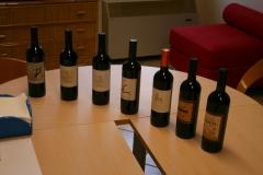line up of bottles