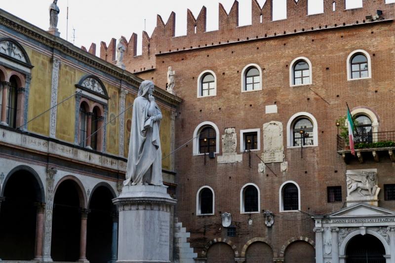 Dante's statue, Verona