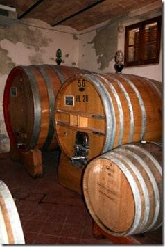 oak vats of various sizes