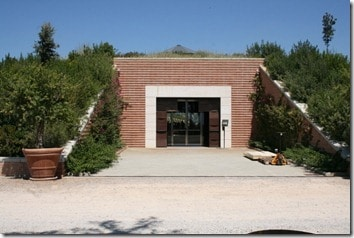 entrance to top of winery
