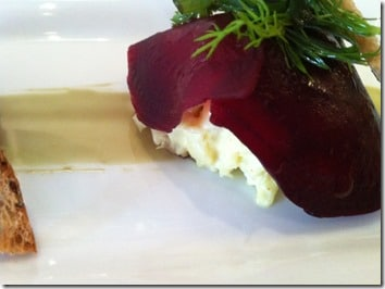 ... and goat's cheese